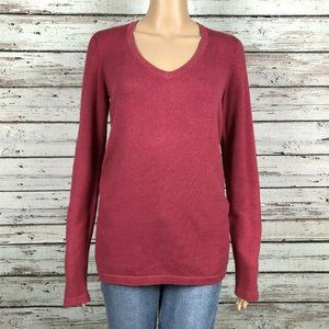 CAbi #616 Berry Pink V-neck Pullover Sweater Shirt